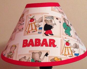 Babar Children's Fabric Lamp Shade/Children's Gift FREE SHIPPING