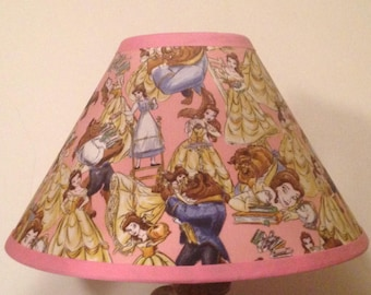 Disney Beauty and the Beast/Belle Children's Fabric Lamp Shade/Children's Gift FREE SHIPPING
