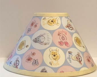 Winnie the pooh lamp etsy winnie the pooh fabric nursery lamp shade baby gift mozeypictures Images
