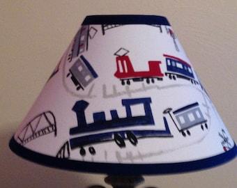 Trains Children's Fabric Lamp Shade/Baby Gift FREE SHIPPING