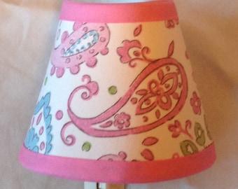 Pink Brooklyn Paisley Girls Night Light/Children's Gift FREE SHIPPING