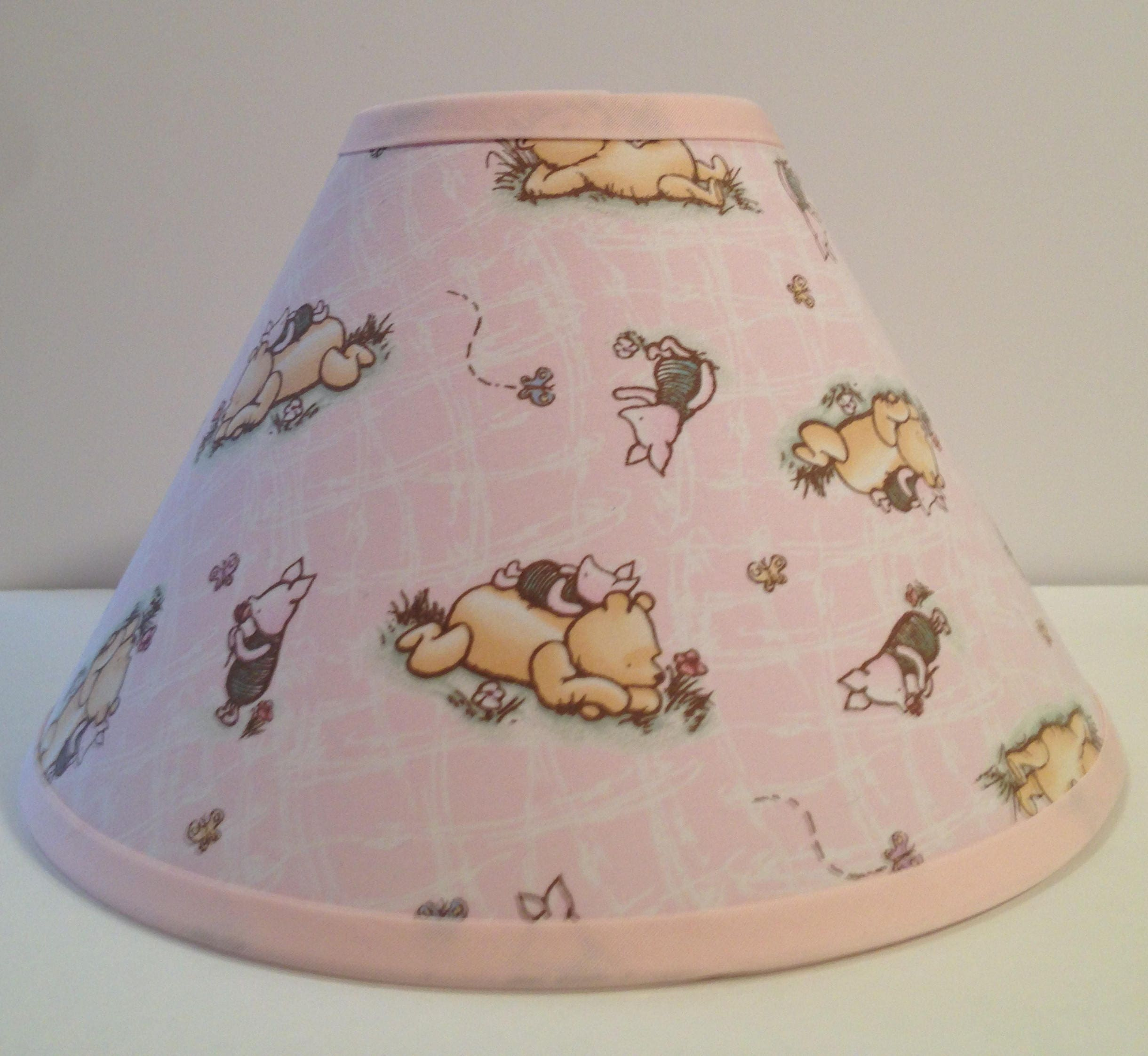 Classic winnie the pooh pink fabric nursery lamp shadebaby shower classic winnie the pooh pink fabric nursery lamp shadebaby shower gift lampshadebaby gift aloadofball Images