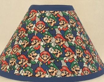 Super Mario Brothers Fabric Children's Lamp Shade/Children's Gift FREE SHIPPING