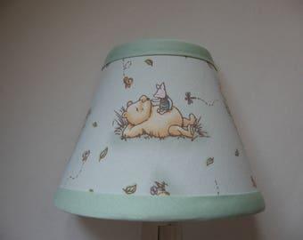 Classic Winnie the Pooh Fabric Nursery Nightlight/Light Green /Baby GiftFREE SHIPPING