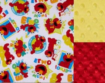 Personalized Minky Elmo Baby Blanket /Lovey/ Stroller Blanket/Shower Gift FREE SHIPPING