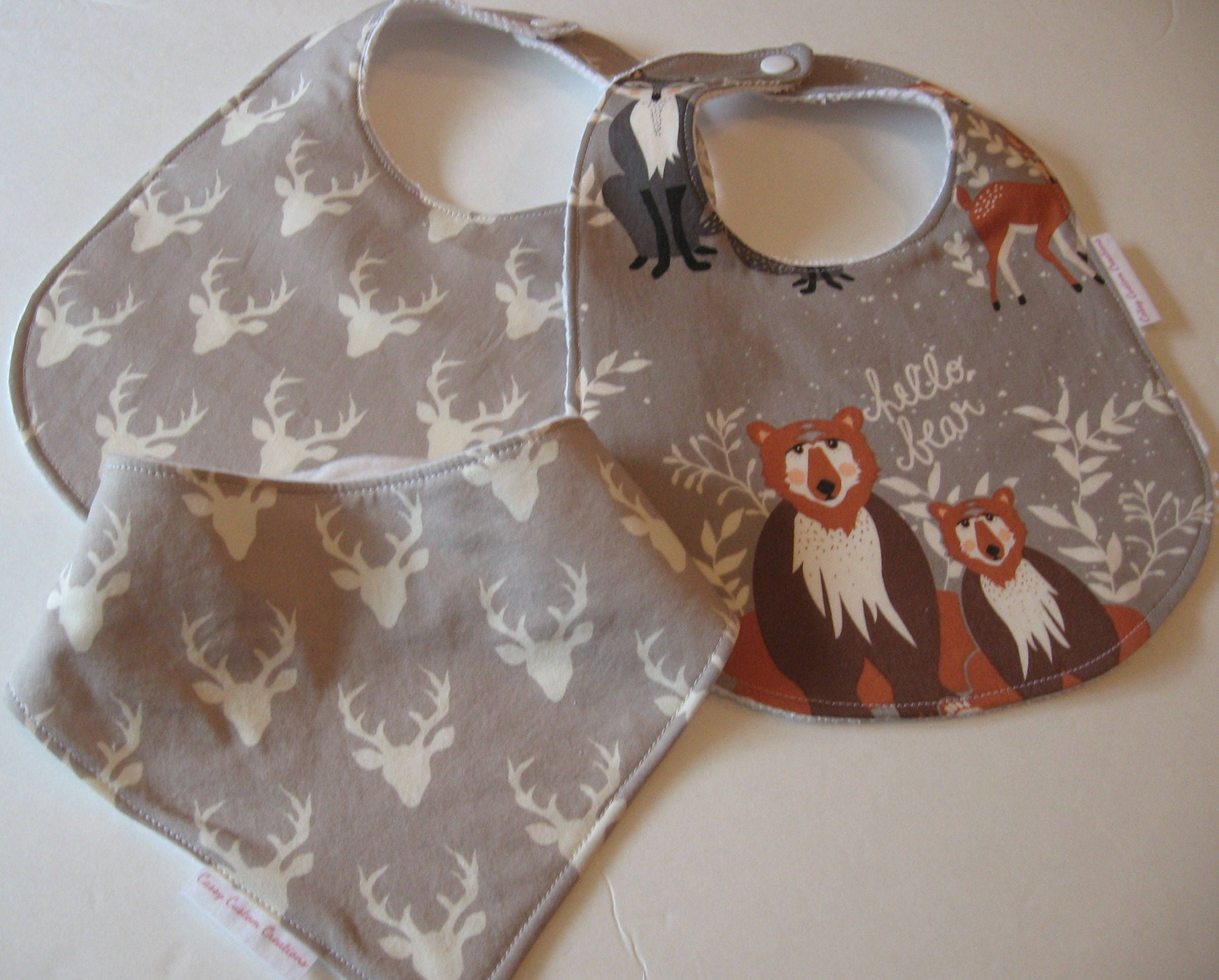 baby boy bib burp cloth gift set hello bear create your own baby