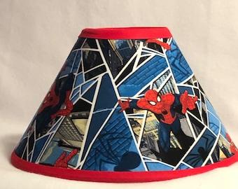 Spiderman Fabric Childrens Lamp Shade/Children's Gift FREE SHIPPING