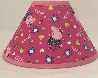 Peppa The Pig Children's Fabric Lamp Shade/Children's Gift FREE SHIPPING