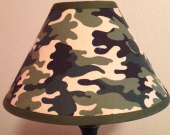 Camouflage Children's Fabric Lamp Shade/Children's Gift FREE SHIPPING