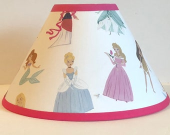 Disney Princesses Fabric Childrens Lamp Shade/Children's Gift FREE SHIPPING