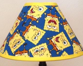 Spongebob Squarepants Custom Fabric Children's Lamp Shade/Children's Gift FREE SHIPPING