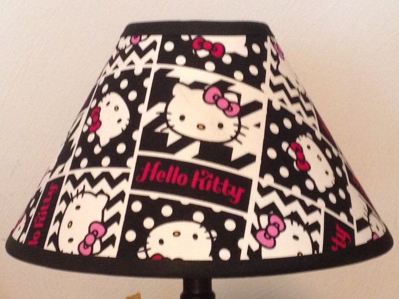 80a5c3222 Hello Kitty Patchwork Children's Fabric Lamp | Etsy