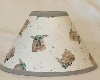 Star Wars Baby Yoda Mandalorian Children's Fabric Lamp Shade/Children's Gift/Star Wars Decor FREE SHIPPING