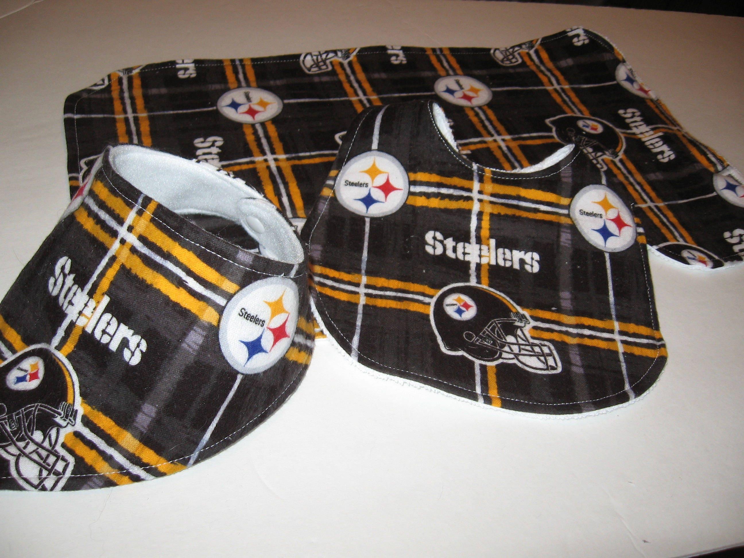 bfdbbc02f Pittsburgh Steelers Baby Gift Set/Burp Cloth/Bibs/Baby Shower Gift