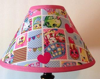 Shopkins Patchwork Children's Fabric Lamp Shade/Children's Gift FREE SHIPPING