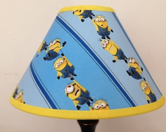 Disney Minions Children's Fabric Lamp Shade/Minions Lampshade/Children's Gift FREE SHIPPING