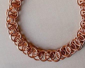 7th Anniversary Gift, 7 Year Anniversary, Mens Copper Bracelet, Chainmaille Bracelet, Arthritis Bracelet, Copper Gift for Her, Canada