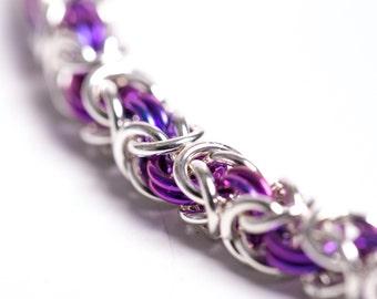 25th Anniversary, Dainty Bracelet, Womens Chainmail, Thin Chain Bracelet, Dainty Chain, Canada, Feminist Bracelet, Feminist Jewelry