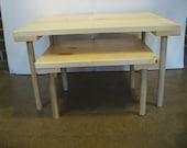Set of 2 Montessori Nesting Floor Tables