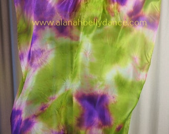 Electric Nebula Florescent Fan Veil Set/UV sensitive-Purple/Lime