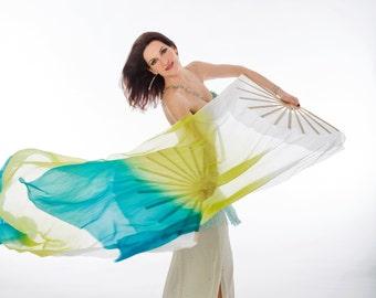 Fan Veil SET (2 FANS)-Ocean colorway