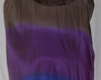 Fan Veil set (2) fans-Color: Midnight Series-Black/Plum/Sapphire