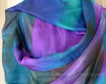 Nebula Design Silk Veil-Teal/Electric Purple/Black