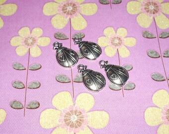 Ladybug Charms Set of 4