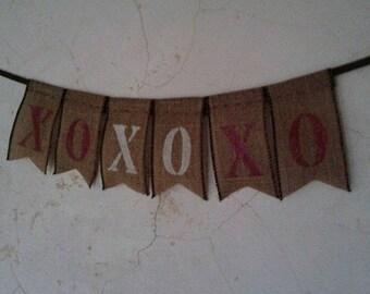 XO Burlap Banner