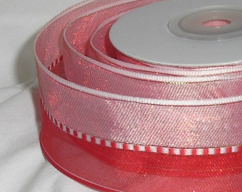 """Pink and Red Ribbon...1.1/2"""" X 10 yards"""