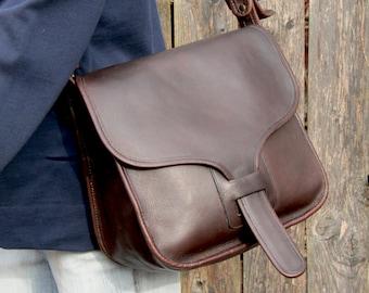Vintage Coach Bag Courier Pouch Saddle Bag in Brown Leather Bonnie Cashin  Bag 1970s NYC af41861665264