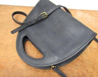Vintage Coach Bag Carousel in Black Leather Crossbody Purse