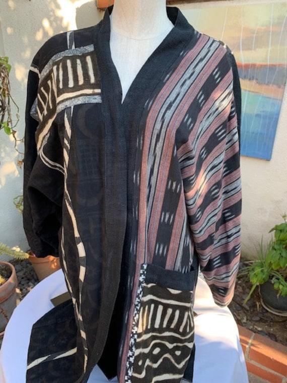 Laise Adzer - Artistic Kimono style Jacket blends