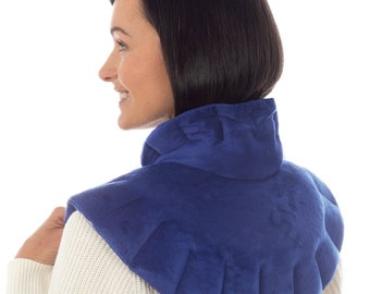 SunnyBay Odorless Microwavable Neck and Shoulder Heating Wrap - Heat Pad for Neck Pain Relief,  Hot & Cold Therapy, Back Pain Relief