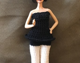 Hand knitted 2 piece top and pants for dolls