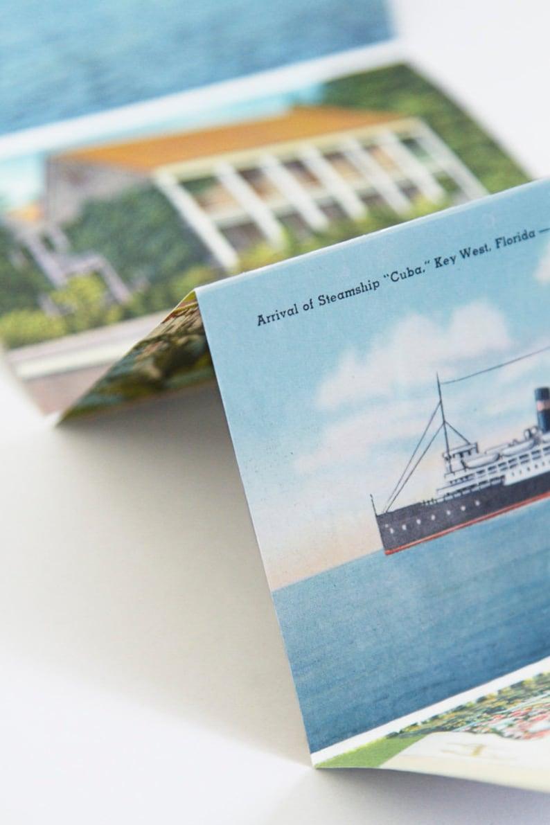 40s Vintage 1940s Key West Florida Souvenir Travel Postcard Book