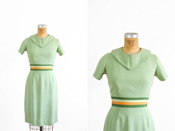 1950s Dress - 50s Dress - Jerry Gilden Green Short