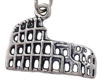 Roman Colosseum Charm Sterling Silver Pendant Italy