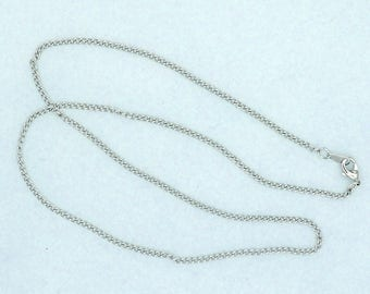 """Curb Chain 18"""" Silver Plated 2mm width Lobster Claw Clasp"""