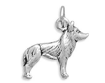 Husky Dog Charm 925 Sterling Silver Pendant 3d Animal Canine Puppy