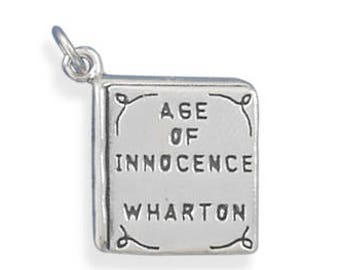 Age of Innocence Book Charm 925 Sterling Silver Pendant Wharton