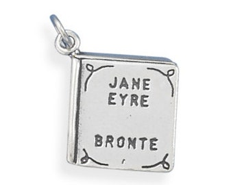 Sterling Silver Jane Eyre Book Charm Pendant Literature School