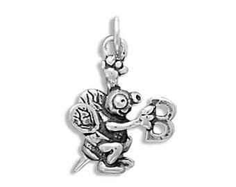 Spelling Bee Charm 925 Sterling Silver Pendant Animal Insect School