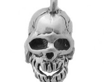 Sterling Silver Skull Charm Pendant Skeleton Jaw Moves
