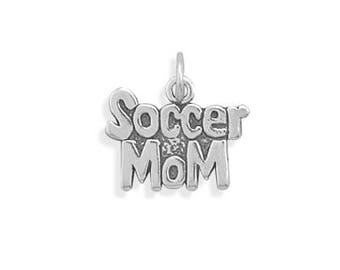 Sterling Silver Soccer Mom Charm