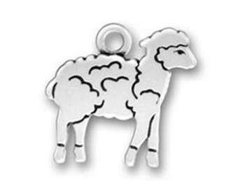 Sheep Lamb Charm Sterling Silver Pendant Farm Animal