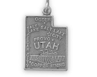 Sterling Silver Utah State Charm America Beehive Copper Salt Lake City Provo