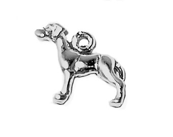 Great Dane Dog Charm Sterling Silver Pendant MINI Animal Pet 3D