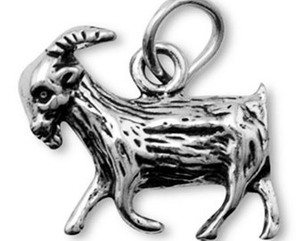 Sterling Silver Goat Charm Pendant Farm Animal