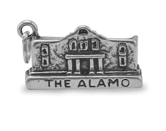 The Alamo Charm 925 Sterling Silver Pendant San Antonio Texas